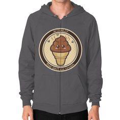 THIS ISN'T Ice Cream Zip Hoodie (on man)