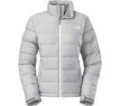 Women s The North Face Nuptse 2 Jacket High Rise Grey Heather TNF White Size  Medium    Details can be found by clicking on the image. fa2e287f0