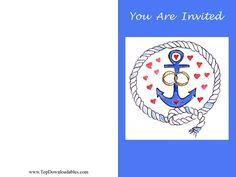 Nautical  wedding downloadable free printable invitation and kits #nautical #theme