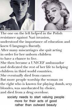 Audrey Hepburn vs Marilyn Monroe