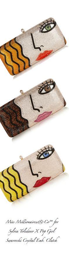 Sylvia Toledano X-Pop Girl Swarovski Crystal Embellished Clutch Bags