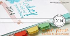 2014 Blogger Planner, Calendar, & Menu Planner