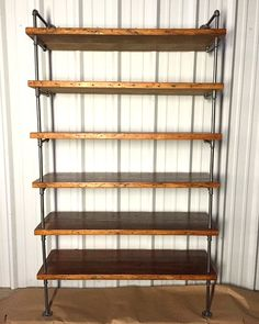 Reclaimed Wood Pipe Shelving Antique Rustic by IndustrialEnvy
