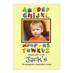 Photo Card Birthday Invitation The ABC's Photo Invitation