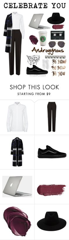 """Celebrate You: Androgynous"" by annabethchase23 ❤ liked on Polyvore featuring Victoria, Victoria Beckham, Calvin Klein Collection, Helene Berman, Vans, Speck, CASSETTE, Color Me, rag & bone and Chopard"