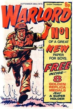 Comics UK is dedicated to those great institutions, the British Comic and Story Paper dating back from the the late Victorian era through Beano to and beyond. Comic Book Covers, Comic Books Art, Comic Art, Comics Uk, War Comics, Vintage Comics, Vintage Books, Fallout, Retro Toys