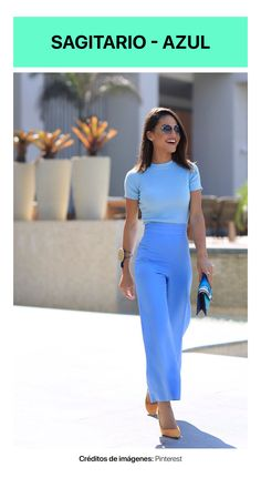 casual y elegante con tus outfits en azul cielo Office Outfits, Mode Outfits, Fashion Outfits, Fashion Trends, Classy Outfits, Stylish Outfits, Work Fashion, Fashion Looks, Mode Pastel