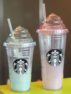 Korea Starbucks Mint Cream Tumbler 473ml Pink Cream Cold Cup Tumbler 591ml SET #Starbucks
