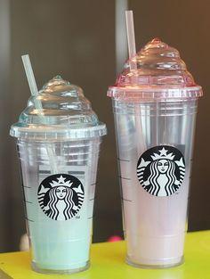 Korea Starbucks Mint Cream Tumbler 473ml Pink Cream Cold Cup Tumbler 591ml SET #Starbucks