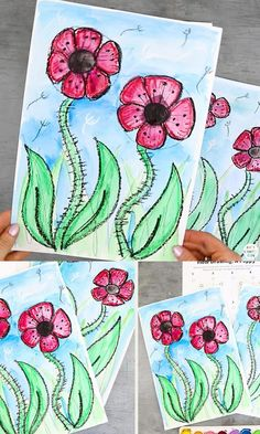 Drawing Lessons For Kids, Art Drawings For Kids, Art Lessons, Art For Kids, Fall Crafts For Toddlers, Art Activities For Kids, Halloween Crafts For Toddlers, Spring Arts And Crafts, Easy Arts And Crafts