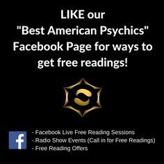Like our FB Page and see the offers as soon as they come out! Whether you are tuning into a FB LIVE Free Reading session checking the calendar for our member's radio show events or checking out the offers be sure to watch our page for free reading opportunities and ways to hear more from your favorite psychics!  http://ift.tt/2fzhMWU  #bestamericanpsychics #freereadings #freepsychicreadings #radio #callin #fblive #fb #facebook #page #businesspage #offers #events #bestamericanpsychics…