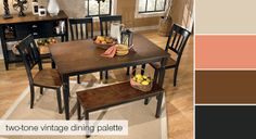 I like this different look - a two-toned dining table!