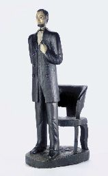 A CARVED AND PAINTED PINE STANDING FIGURE OF ABRAHAM LINCOLNhttp://www.christies.com/  AMERICAN, CIRCA 1887