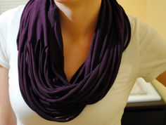 how to make a t-shirt scarf | Craft Loving: Jersey Scarf Tutorial