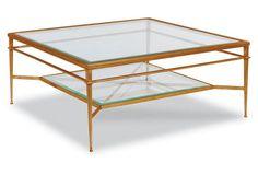 Tasca Coffee Table, Gold Leaf 42 x 42 x 19H $1645