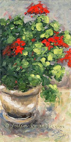 Geranium II - Flower Oil Painting