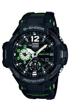 ae78e9577ea Reloj Casio G-Shock cronógrafo hombre GA-1100-1A3ER