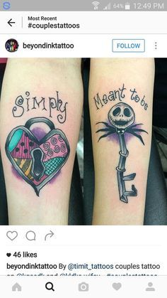 Bildergebnis für his and hers matching heart tattoos