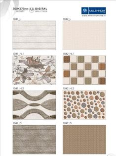 Check out our unique tile #patterns and the many ceramic tiles to choose from.  Wall TilePatterns 1041 & 1042 - Millennium Tiles 250x375mm (10x15) Digital Ceramic Glossy Wall #Tiles Series - 1041_L - 1041_HL1 - 1041_HL2 - 1041_D - 1042_L - 1042_HL1 - 1042_HL2 - 1042_D  - Vitrified Tiles is made by hydraulic pressing a mixture of #clay, #quartz, feldspar and silica, which make vitreous #surfaces.