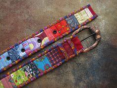 Пояс лоскутный, ремень под джинсы, печворк, ремень из ткани, пояса женские, текстильные, Богачук Татьяна