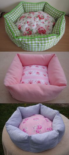 I like these designs for a potential cat bed for the mysterious cat that is never seen... :D