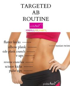 Using this targeted ab routine will help define your midsection and help strengthen your bones and back. Add a high protein low fat diet to show them off!