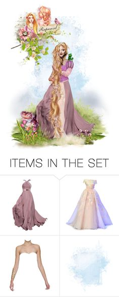 """""""Rapunzel"""" by chomiczynka ❤ liked on Polyvore featuring art"""