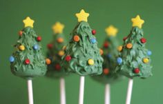The perfect day for Xmas Tree cake pops.