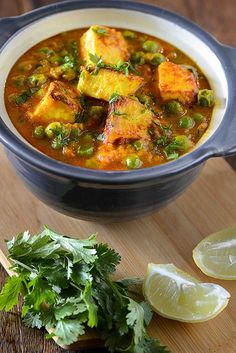 Matar paneer or mutter paneer curry is hearty vegetarian curry from North Indian cuisine. This is one of most popular paneer curry recipe.