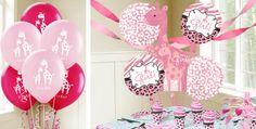 Pink Wild Safari Baby Balloons - Party City love it!