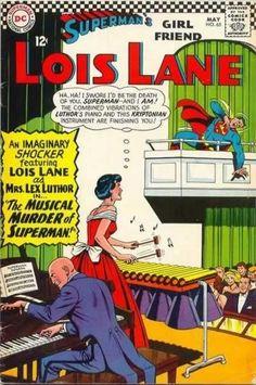 mostly comic art — the cover to Superman's Girl Friend, Lois Lane. Dc Comic Books, Vintage Comic Books, Vintage Humor, Vintage Comics, Comic Book Covers, Comic Book Characters, Comic Art, Superman Comic, Batman