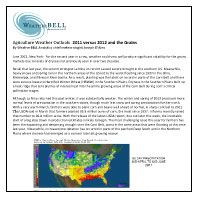 June 27, 2012: WeatherBELL Agriculture Weather Outlook: 2011 versus 2012 and the Grains