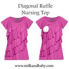 Crazy cute nursing top. Breastfeeding is a breeze! Find at www.milkandbaby.com