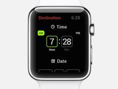 Set time in DeLorean (Apple Watch)