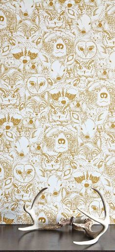 Whimsical and fairytale inspired, this wallpaper would make for an adorable and imaginative child's bedroom or playroom. | Grace Home Design blog