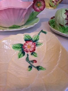 Carlton ware, cream, Wild Rose jam/butter dish. So pretty! $18.90USD