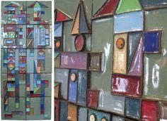 Enamel Wall Plaques-Edgar Tafur, c. 1960's.