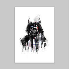 """Star Wars // Watercolor Print // DARTH VADER (18""""x24"""")"""