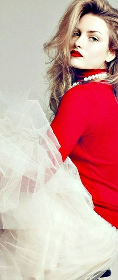 red + tulle