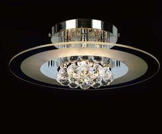 Plafon redondo con bolas de cristal tallado