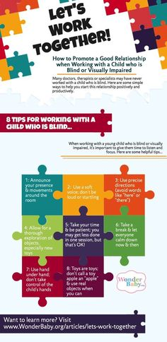 8 tips for working with a child who is blind