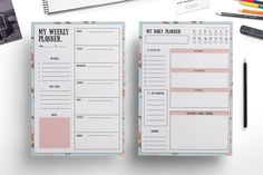 Weekly planner , daily planner by Chic templates on @creativemarket