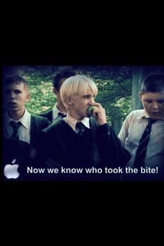 Dying! Draco Malfoy is responsible for the Apple logo