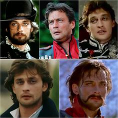 Aleksander Domogarow jako: Hrabia De Bussy (1998) Sotnik Kryszkin (2011) Edmund (2001) Wiktor (1999) Jurko Bohun (1999)