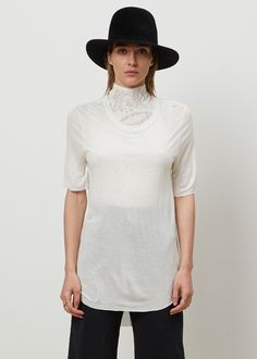 The Diane Keaton top. Raquel Allegra Jersey Basic Tee (White)