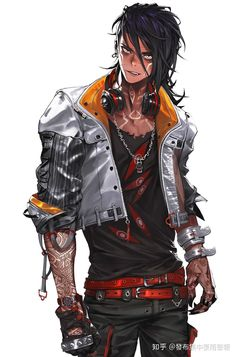 Raz, fils de Raynor a Toronto Fantasy Character Design, Character Design Inspiration, Character Concept, Character Art, Cyberpunk Anime, Arte Cyberpunk, Animes Emo, Sci Fi Characters, Chica Anime Manga