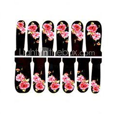 12pcs Blumenmuster Wasserzeichen Nail Art Sticker c2-017 2016 - €2.49