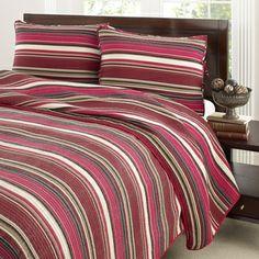 Stone Cottage Fresno Red Cotton 3-piece Quilt Set