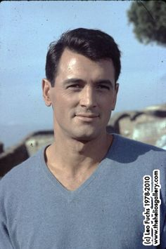 Image detail for -Rock Hudson portraited by Leo Fuchs
