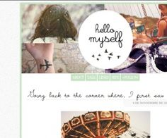 blog Template thumbnail - hellow myself free blog template